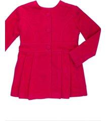 casaco lá alfaiataria gingga baby e kids pink juliette - tricae