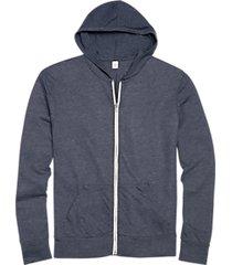 alternative apparel navy modern fit full zip eco jersey hoodie