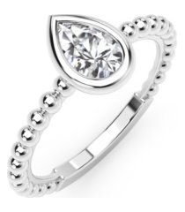 forevermark tribute collection pear diamond (1/3 ct. t.w.) ring in 18k yellow, white and rose gold