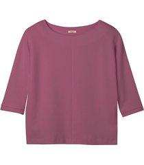 sweatshirt van bio-katoen met raatstructuur, roze 36/38