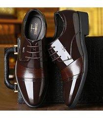 zapatos oxford para hombres zapatos de boda de charol
