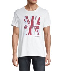 ben sherman men's half tone flag regular-fit t-shirt - norse blue - size m