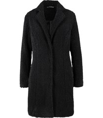 cappotto corto effetto peluche (nero) - bpc bonprix collection