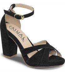 sandalias tacón alto haidee negro para mujer croydon