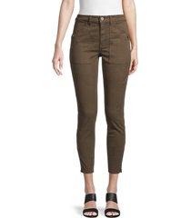 joie women's keena skinny crop pants - fatigue - size 23 (00)