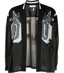 facetasm mesh panelled sports jacket - black