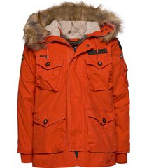 rookie heavy weather parka parka jas oranje superdry