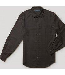 camisa casual rayas negro perry ellis