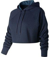 buzo hoodie cerrado para mujer womens energize crop hoodie new balance