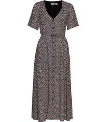 devagz long dress hs20 jurk knielengte multi/patroon gestuz