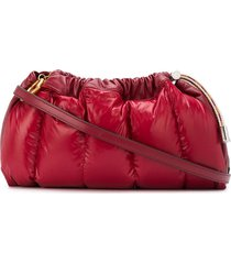 moncler seashell padded clutch - red