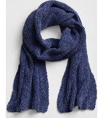 bufanda chenille mujer azul gap