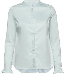 mattie sustainable shirt overhemd met lange mouwen groen mos mosh