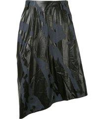 comme des garçons homme plus camouflage print skirt - blue