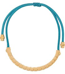 versace drawstring bracelet - gold