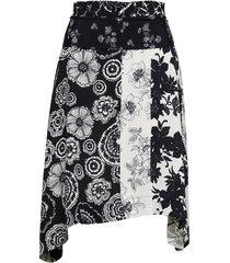 fal paola knälång kjol svart desigual