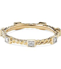'cable collectibles' diamond 18k yellow gold ring