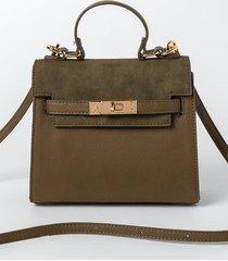 lani mini structured satchel - olive