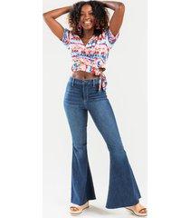 kris medium wash flare jeans - medium wash