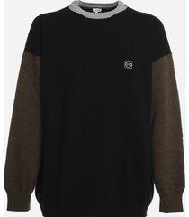 loewe wool sweatshirt with color block design