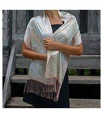silk batik scarf, 'feminine' (indonesia)