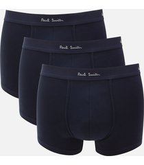 ps paul smith men's 3 pack trunk boxer shorts - dark navy - xl