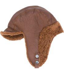 simonetta ravizza aviator shearling hat - brown