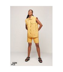 colete oversized vicenza - amarelo