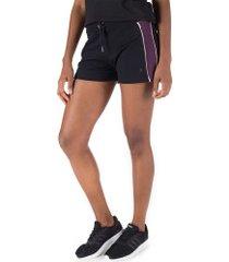 shorts oxer vintage - feminino - preto/roxo esc