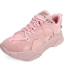 tenis  sneakers rosado tellenzi 233,