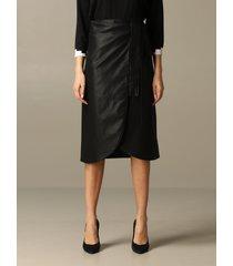 armani exchange skirt armani exchange midi skirt in synthetic leather