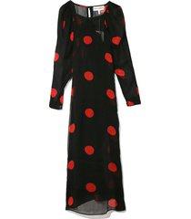 elisabetta dress in black/red