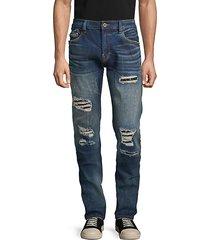 rocker distressed slim-fit jeans