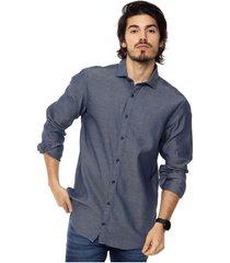 camisa azul tommy hilfiger indigo dobby nfw6