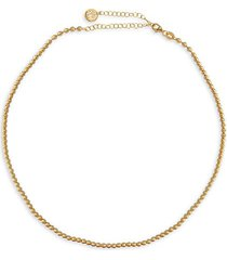 i heart you caviar beaded 14k gold vermeil ball chain necklace