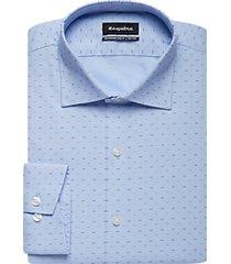 esquire teal dot slim fit dress shirt
