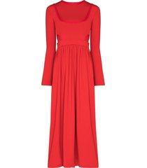 markoo the ballerina midi dress - red