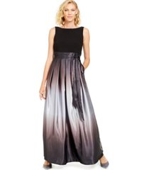 sl fashions ombre satin bow sash gown