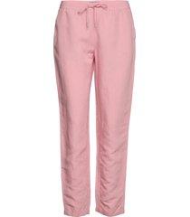 d2. summer linen pull-on pant pantalon met rechte pijpen roze gant