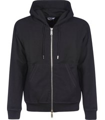 dsquared2 icon hood print front pocket zipped hoodie