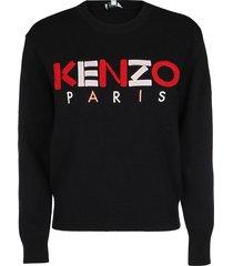 kenzo black cotton sweatshirt