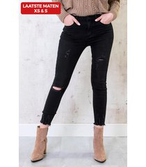 skinny high waisted jeans donker
