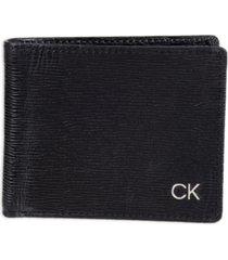 calvin klein men's rfid slimfold extra capacity wallet