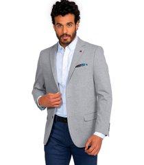 blazer casual gris guy laroche