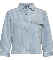 lourdes corduroy shirt overhemd met lange mouwen blauw sparkz copenhagen