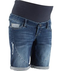 shorts di jeans prémaman per inizio e post gravidanza (blu) - bpc bonprix collection