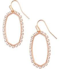kendra scott elle cubic zirconia earrings in rose gold/white cz at nordstrom