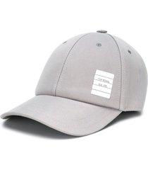 thom browne twill 6-panel baseball cap - grey