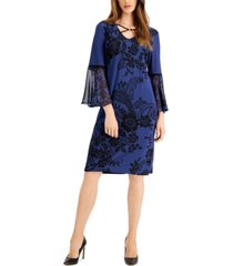 jm collection petite holiday blossom shift dress, created for macy's