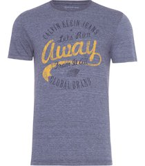 t-shirt masculina estampa away - azul